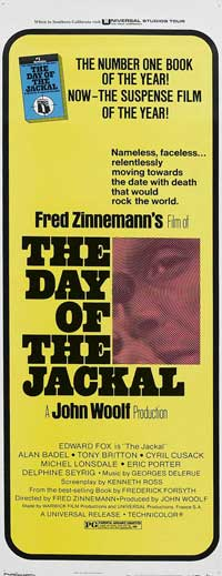 The Day of the Jackal - 14 x 36 Movie Poster - Insert Style B
