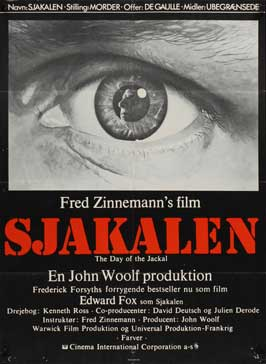 The Day of the Jackal - 11 x 17 Movie Poster - Danish Style A