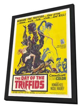 The Day of the Triffids - 27 x 40 Movie Poster - Style A - in Deluxe Wood Frame