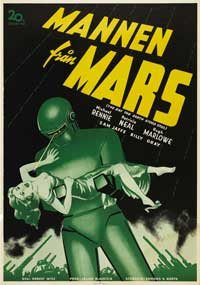 The Day the Earth Stood Still - 11 x 17 Movie Poster - Swedish Style A