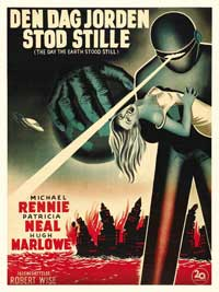 The Day the Earth Stood Still - 27 x 40 Movie Poster - Danish Style A