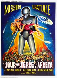 The Day the Earth Stood Still - 27 x 40 Movie Poster - French Style A