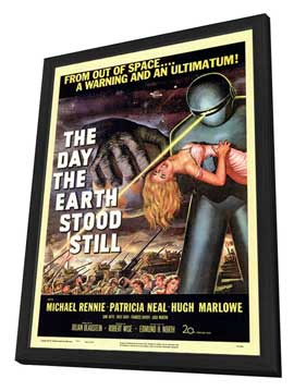 The Day the Earth Stood Still - 11 x 17 Movie Poster - Style A - in Deluxe Wood Frame