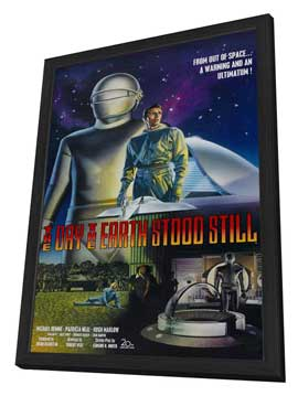 The Day the Earth Stood Still - 27 x 40 Movie Poster - Style B - in Deluxe Wood Frame