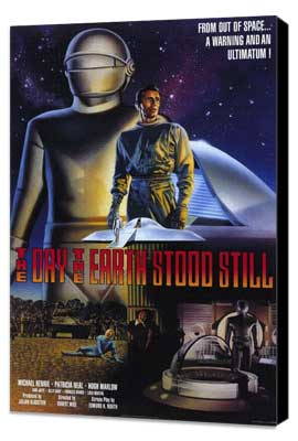 The Day the Earth Stood Still - 11 x 17 Movie Poster - Style C - Museum Wrapped Canvas