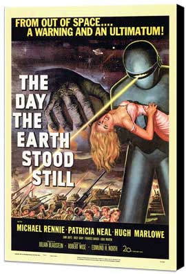 The Day the Earth Stood Still - 27 x 40 Movie Poster - Style A - Museum Wrapped Canvas