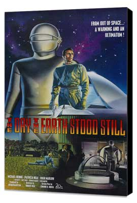 The Day the Earth Stood Still - 27 x 40 Movie Poster - Style B - Museum Wrapped Canvas