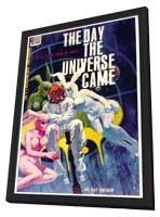 The Day the Universe Came - 11 x 17 Retro Book Cover Poster - in Deluxe Wood Frame