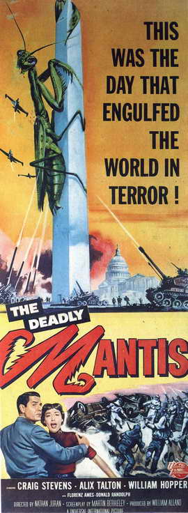 The Deadly Mantis - 14 x 36 Movie Poster - Insert Style A