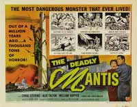 The Deadly Mantis - 30 x 40 Movie Poster UK - Style A