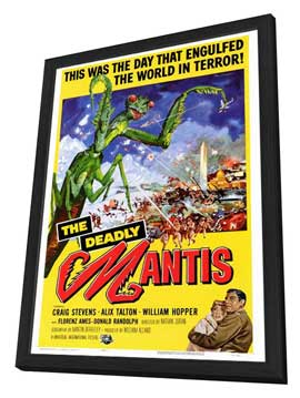 The Deadly Mantis - 27 x 40 Movie Poster - Style A - in Deluxe Wood Frame