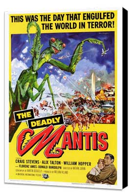 The Deadly Mantis - 27 x 40 Movie Poster - Style A - Museum Wrapped Canvas
