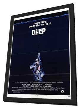 The Deep - 11 x 17 Movie Poster - Style A - in Deluxe Wood Frame