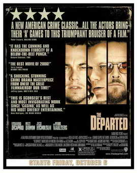 The Departed - 11 x 17 Movie Poster - Style P