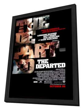 The Departed - 27 x 40 Movie Poster - Style A - in Deluxe Wood Frame