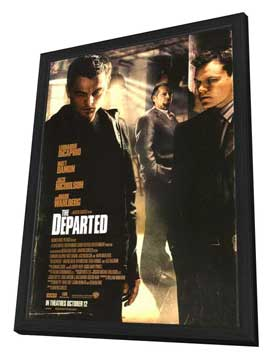 The Departed - 27 x 40 Movie Poster - Style C - in Deluxe Wood Frame