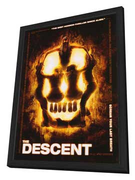 The Descent - 27 x 40 Movie Poster - Style A - in Deluxe Wood Frame