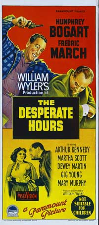 The Desperate Hours - 13 x 30 Movie Poster - Australian Style A