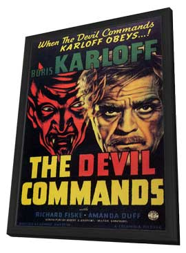The Devil Commands - 11 x 17 Movie Poster - Style A - in Deluxe Wood Frame