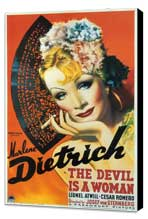The Devil Is a Woman - 27 x 40 Movie Poster - Style A - Museum Wrapped Canvas
