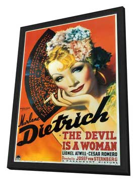 The Devil Is a Woman - 27 x 40 Movie Poster - Style A - in Deluxe Wood Frame