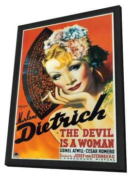 The Devil Is a Woman - 11 x 17 Movie Poster - Style A - in Deluxe Wood Frame