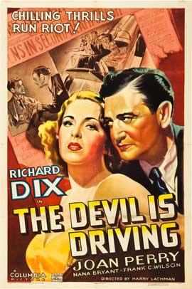 The Devil Is Driving - 27 x 40 Movie Poster - Style A