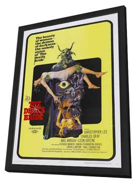 Devil Rides Out, The - 27 x 40 Movie Poster - Style B - in Deluxe Wood Frame