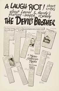 The Devil's Brother - 11 x 17 Movie Poster - Style C