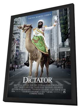 The Dictator - 11 x 17 Movie Poster - Style C - in Deluxe Wood Frame