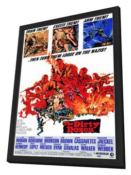 The Dirty Dozen - 11 x 17 Movie Poster - Style A - in Deluxe Wood Frame