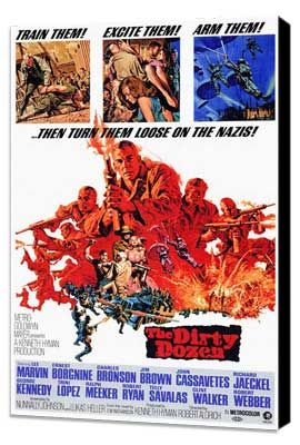 The Dirty Dozen - 11 x 17 Movie Poster - Style A - Museum Wrapped Canvas