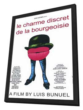 The Discreet Charm of the Bourgeoisie - 11 x 17 Movie Poster - French Style A - in Deluxe Wood Frame
