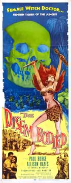 The Disembodied - 14 x 36 Movie Poster - Insert Style A