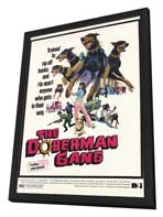 The Doberman Gang - 11 x 17 Movie Poster - Style A - in Deluxe Wood Frame