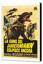 The Doberman Gang - 27 x 40 Movie Poster - Italian Style A - Museum Wrapped Canvas