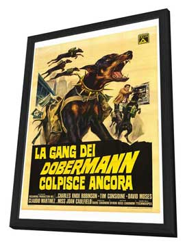 The Doberman Gang - 27 x 40 Movie Poster - Italian Style A - in Deluxe Wood Frame