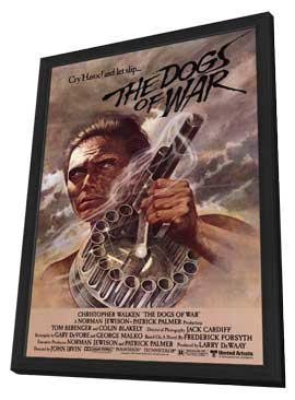 The Dogs of War - 27 x 40 Movie Poster - Style A - in Deluxe Wood Frame
