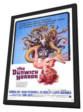 The Dunwich Horror - 11 x 17 Movie Poster - Style A - in Deluxe Wood Frame