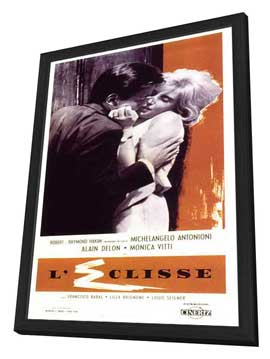 The Eclipse - 27 x 40 Movie Poster - Italian Style A - in Deluxe Wood Frame