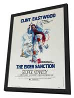 The Eiger Sanction - 27 x 40 Movie Poster - Style C - in Deluxe Wood Frame