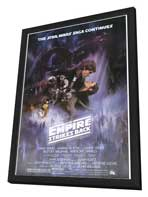 The Empire Strikes Back - 11 x 17 Movie Poster - Style A - in Deluxe Wood Frame