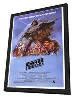 The Empire Strikes Back - 27 x 40 Movie Poster - Style B - in Deluxe Wood Frame