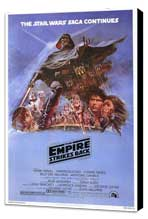 The Empire Strikes Back - 27 x 40 Movie Poster - Style B - Museum Wrapped Canvas