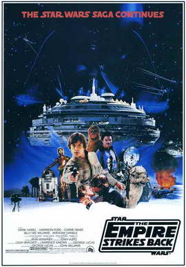 The Empire Strikes Back - 11 x 17 Movie Poster - Style E
