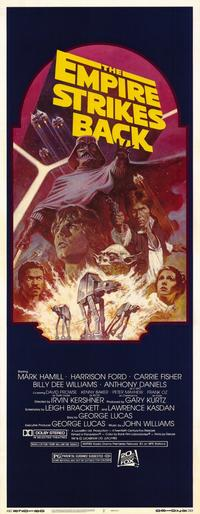 The Empire Strikes Back - 14 x 36 Movie Poster - Insert Style A