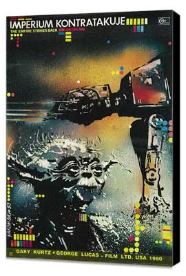 The Empire Strikes Back - 11 x 17 Movie Poster - Polish Style B - Museum Wrapped Canvas