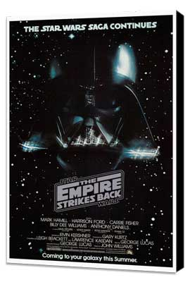 The Empire Strikes Back - 27 x 40 Movie Poster - Style G - Museum Wrapped Canvas