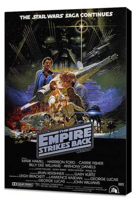 The Empire Strikes Back - 27 x 40 Movie Poster - Australian Style A - Museum Wrapped Canvas