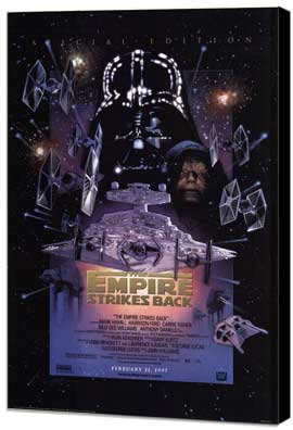 The Empire Strikes Back - 11 x 17 Museum Wrapped Canvas